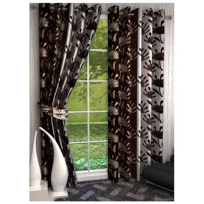 Green Curtains beige and green curtains : Curtains – Buy Door and Window Curtains Online at Best Price in ...