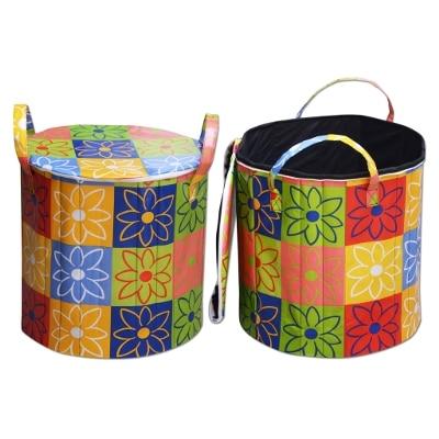 Super India Waterproof Foldable Washing Clothes Laundry Basket Bag Hamper...