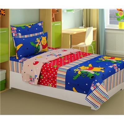 Super India 100% Cotton Kids Toons Single bedsheet - 02