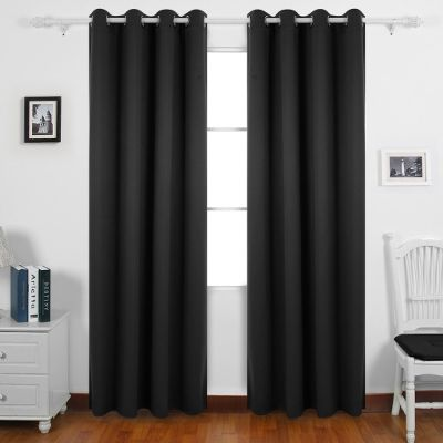 Curtains Ideas black window curtain : Curtains – Buy Door and Window Curtains Online at Best Price in ...