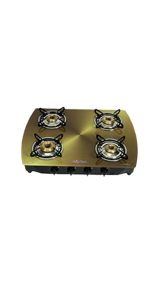 Flame Copper SFCP-GL-0364B Gas Cooktop (4 Burner)