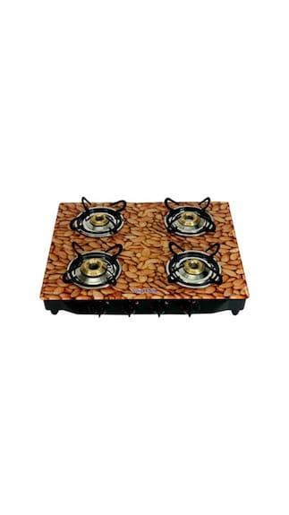 Surya-Flame-Almond-SFAL-GL-1244B-Gas-Cooktop-(4-Burner)