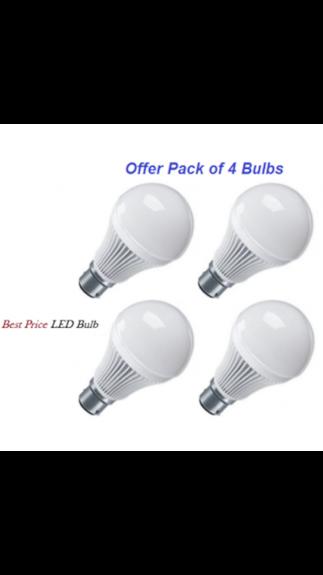 Swainsom-3W-B22-LED-Bulb-(White,-Set-Of-4)