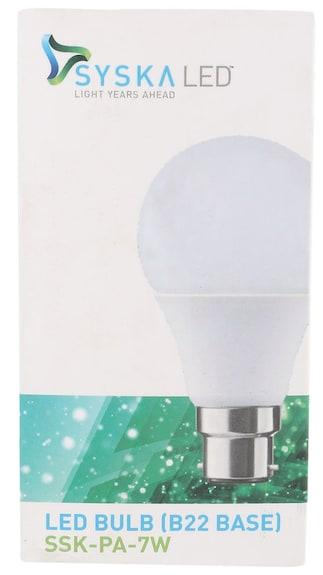 Syska-7W-LED-Bulbs-(Cool-Light,-Pack-of-4)