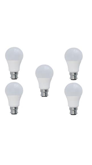 9W LED Bulbs (White, Pack of 5)