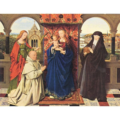 The Museum Outlet The Madonna With The Carthusians Poster