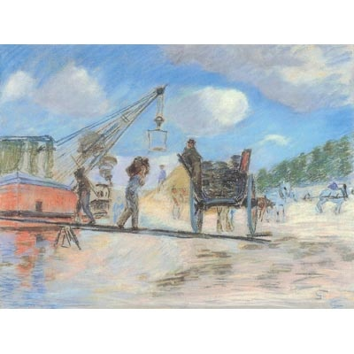 The Museum Outlet The Cart At The Bank Of The Seine 1882 Poster