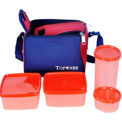 Topware 4 Containers Lunch Box with Insulated Bag