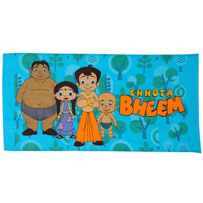 Trident Chhota Bheem Full Print The Chhota Bheem Gang Bath Towel