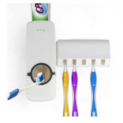 Trioflex Toothpaste Dispenser And Toothbrush Holder