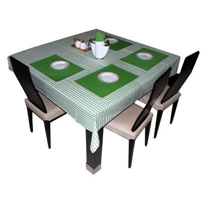 Triveni Green Colored Cotton Dyed Table Napkin