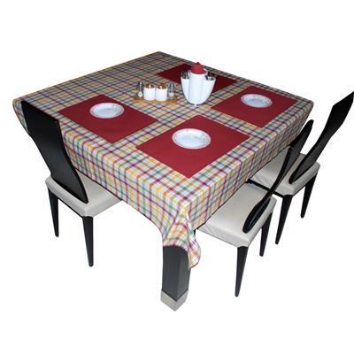 Triveni Red Colored Cotton Dyed Table Napkin