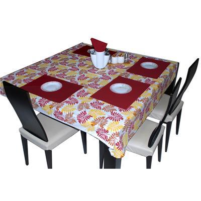 Triveni Red Colored Cotton Printed Table Napkin