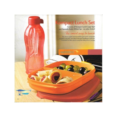 Tupperware Kompact Lunch Box Set With 1 Bottle