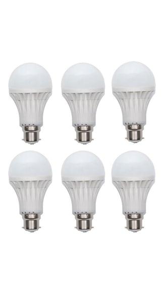 5W-Plastic-White-LED-Bulb-(Pack-Of-6)