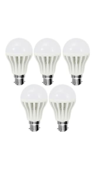 3W-Plastic-White-LED-Bulb-(Pack-Of-5)
