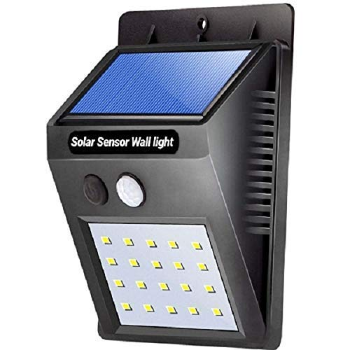 UKANI 20 LED Bright Outdoor Security Lights with Motion Sensor (Black)