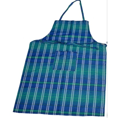 Valtellina Blue and Green Checked Apron