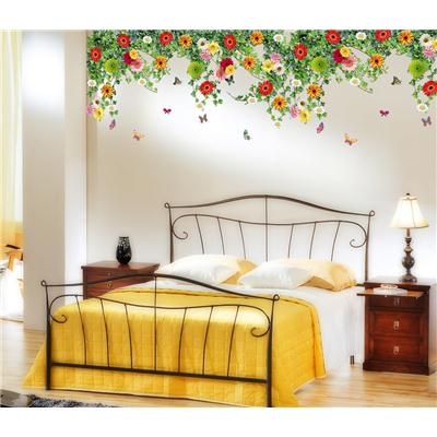 Wall Stickers Bed Room Backdrop Hanging Realistic Daisy Flowers Falling...