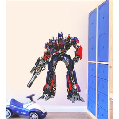 Wall Stickers Transformers Autobots Optimus Prime Boys Room Decor Kids Room Vinyl