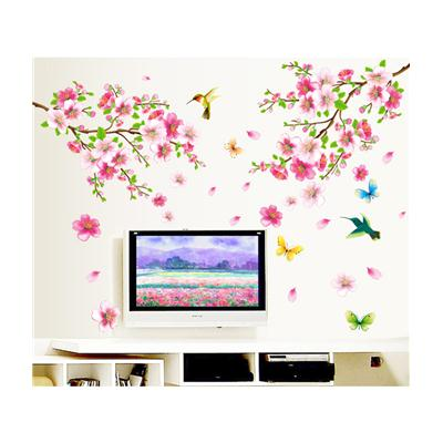 Wall Stickers Flowers TV Background Branch LED LCD Living Area...