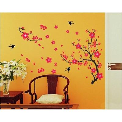 WallTola Branch With Flowers Wall Sticker