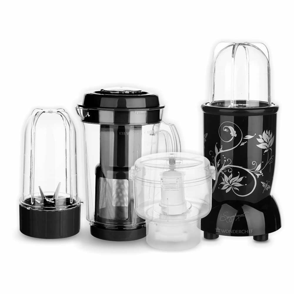 Wonderchef Nutri-blend CKM 400 Watts Juicer Mixer Grinder (Black)