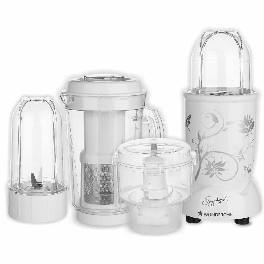 Wonderchef Nutri-blend CKM 400 Watts Juicer Mixer Grinder (White)