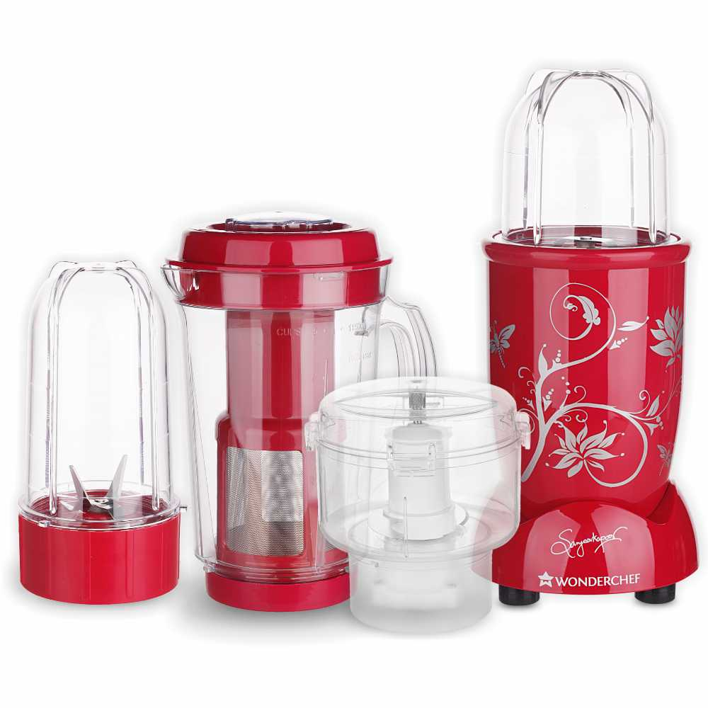 Wonderchef Nutri-blend CKM 400 Watts Juicer Mixer Grinder (Red)