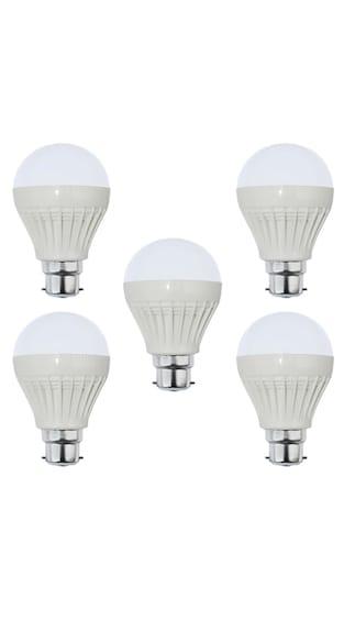 3W-Plastic-White-LED-Bulb-(Pack-of-5)