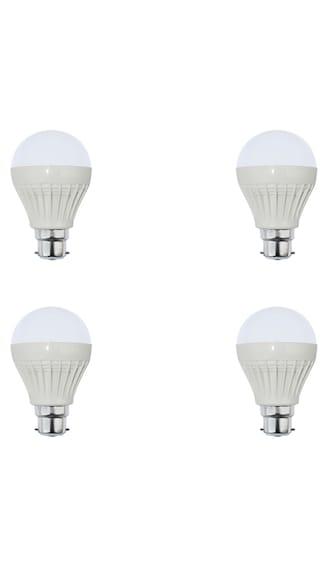 3W Plastic White LED Bulb (Pack of 4)