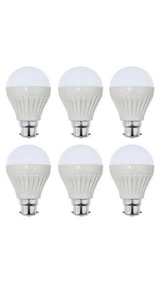 Yellowstar-3W-Plastic-White-LED-Bulb-(Pack-of-6)