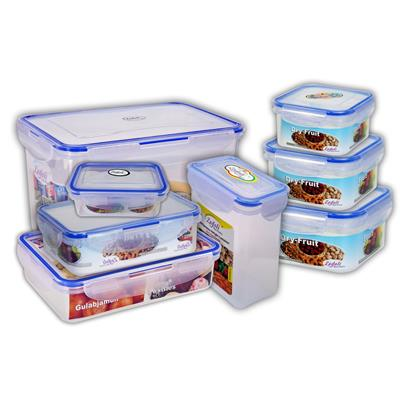 Zadoli Milan 17030054060065090012003000 ml Square Locked food Container set of 8