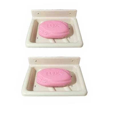 ZAHAB FANCY SINGLE SOAP DISH-SQUARE 2 PCS COMBO