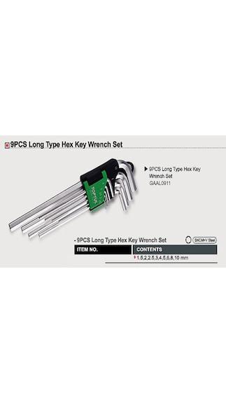 Long-Type-Hex-Key-Wrench-Set-(9-pcs)