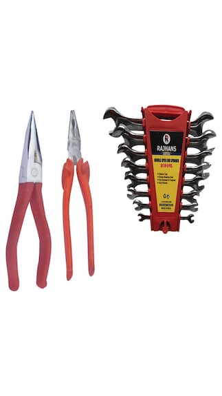 Open-End-Spanner-Set-(8-Pc),-Carpenter-Pincer-And-Tower-Pincer-Combo