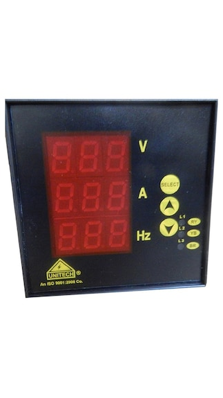 Three Phase Digital Volt AMP Frequency Meter