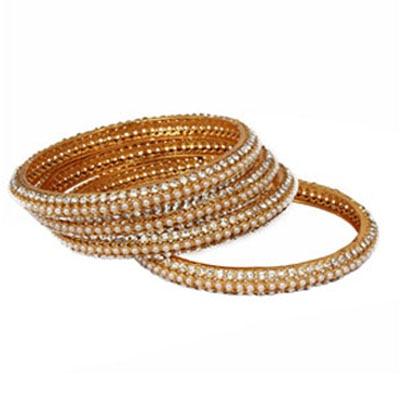 Adwitiya Collection Golden Bangles