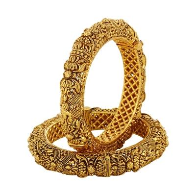 Adwitiya Collection Golden Bracelets