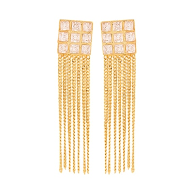 Adwitiya Collection Gold And Stone Earrings for Women