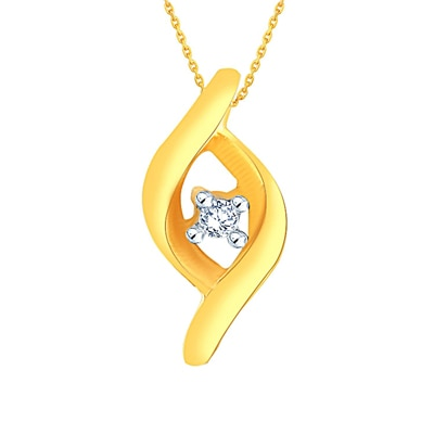Beautiful Sparkling Diamond Pendant By Asmi Crafted in 18 KT Gold