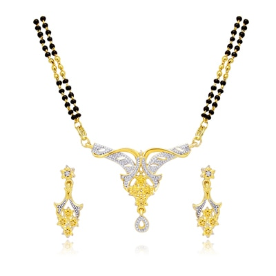 Atasi International Golden Mangalsutra Set