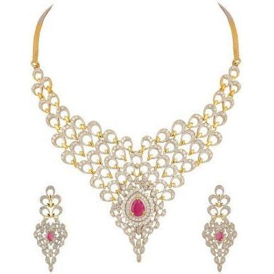 Awww Gold Plated Jewellery Set with Earrings For Women / Girls