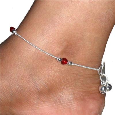 Beadworks Maroon Anklet (Pack of 2)