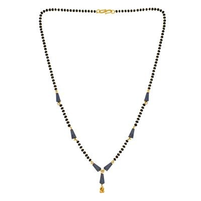 Designer Blue Gold Plated Mangalsutra MS-1345 available at Paytm for Rs.79