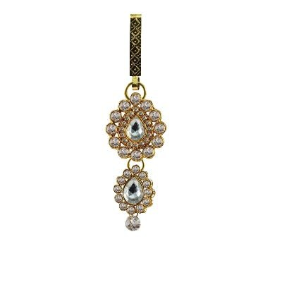 Golden Stone Stud-gold Platted Brass Key Chain