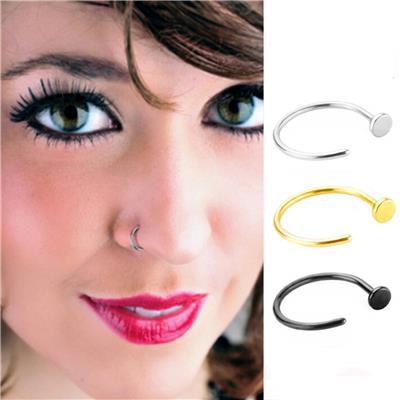 Imported 3pcs Horsehoe Spike Eyebrow Lip Nose Ring Barbell Stud Hoop Body Piercing