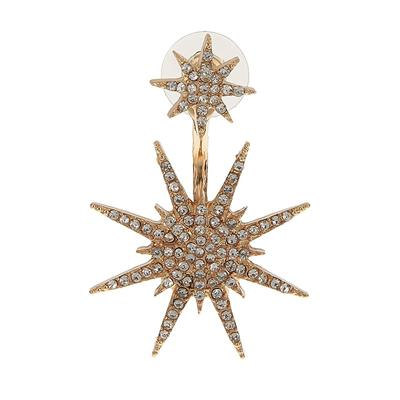 Generic Imported Women Elegant Crystal Rhinestone Dangle Gold Star Stud Earrings