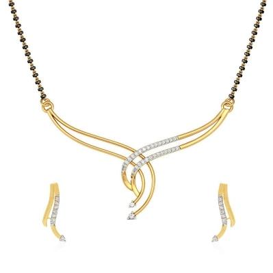Jewels Galaxy Elegant Precious AAA American Diamond Mangalsutra
