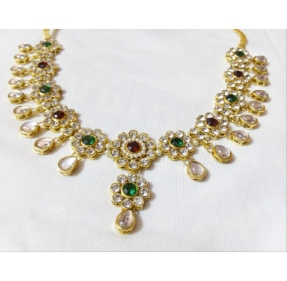 kundan Red Green kamarband